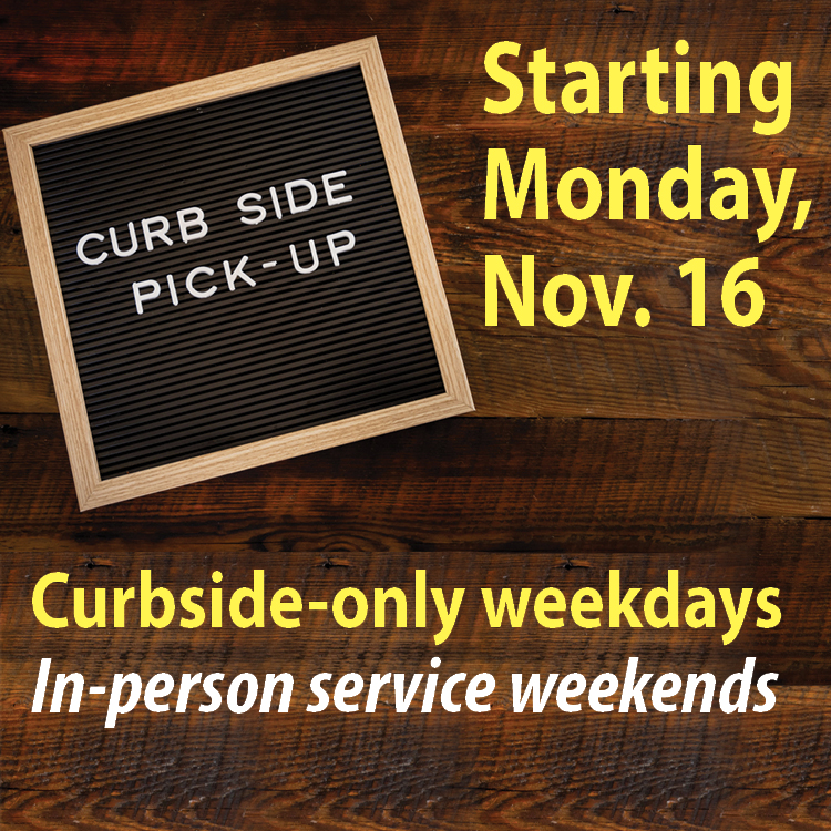 FDLPL will go curbside-only on weekdays starting Monday, Nov. 16