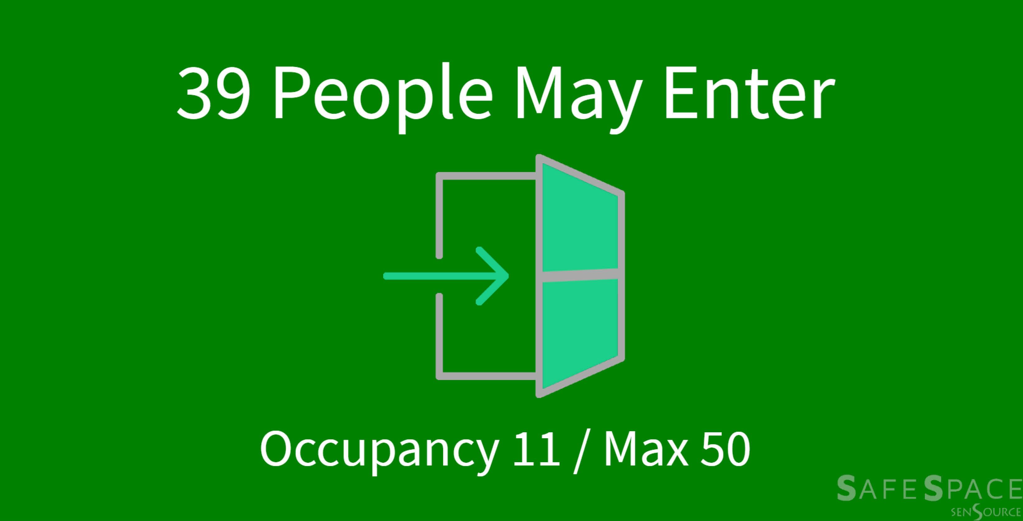 New digital display shows occupancy information