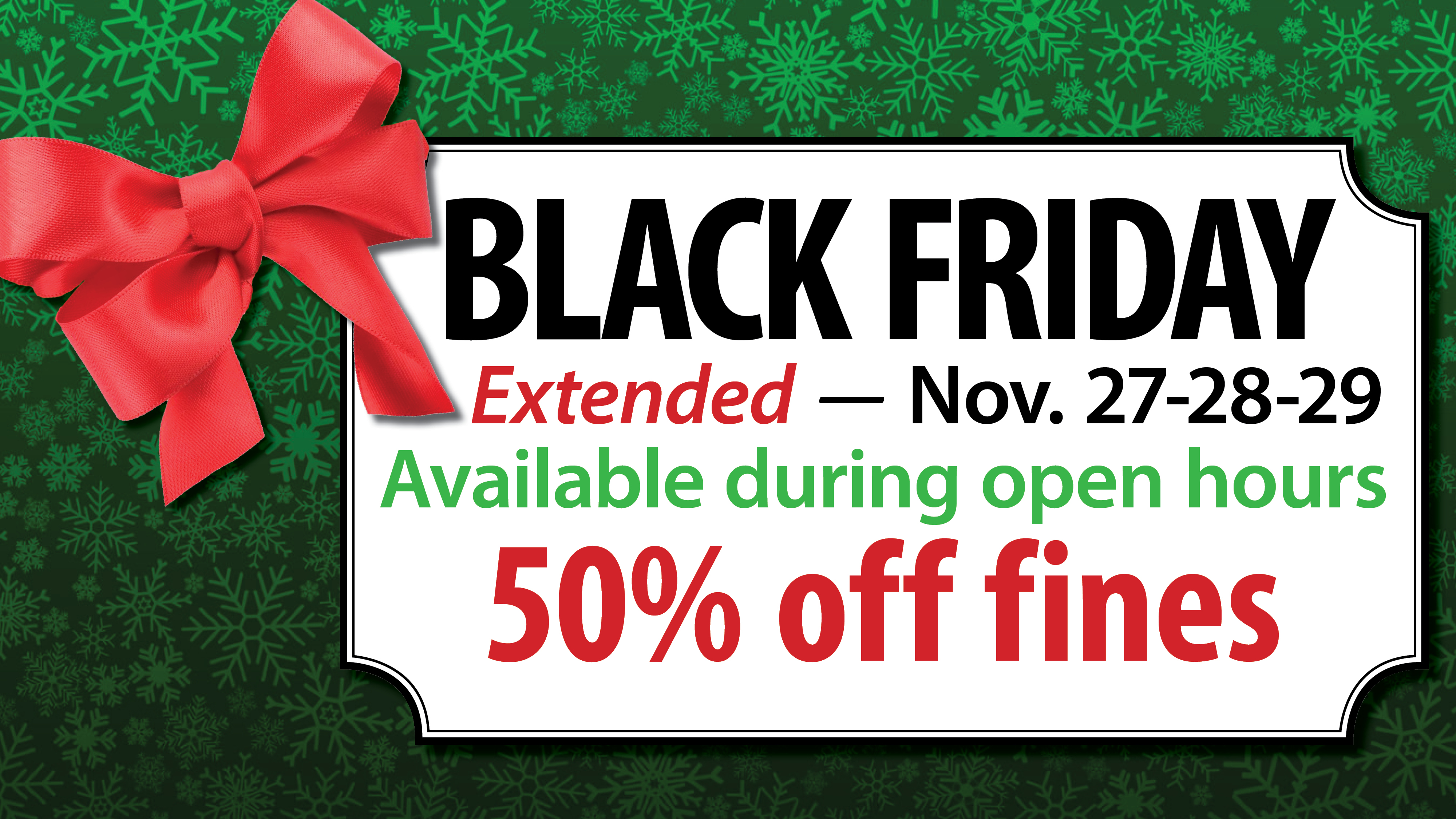 Black Friday sale extended all weekend